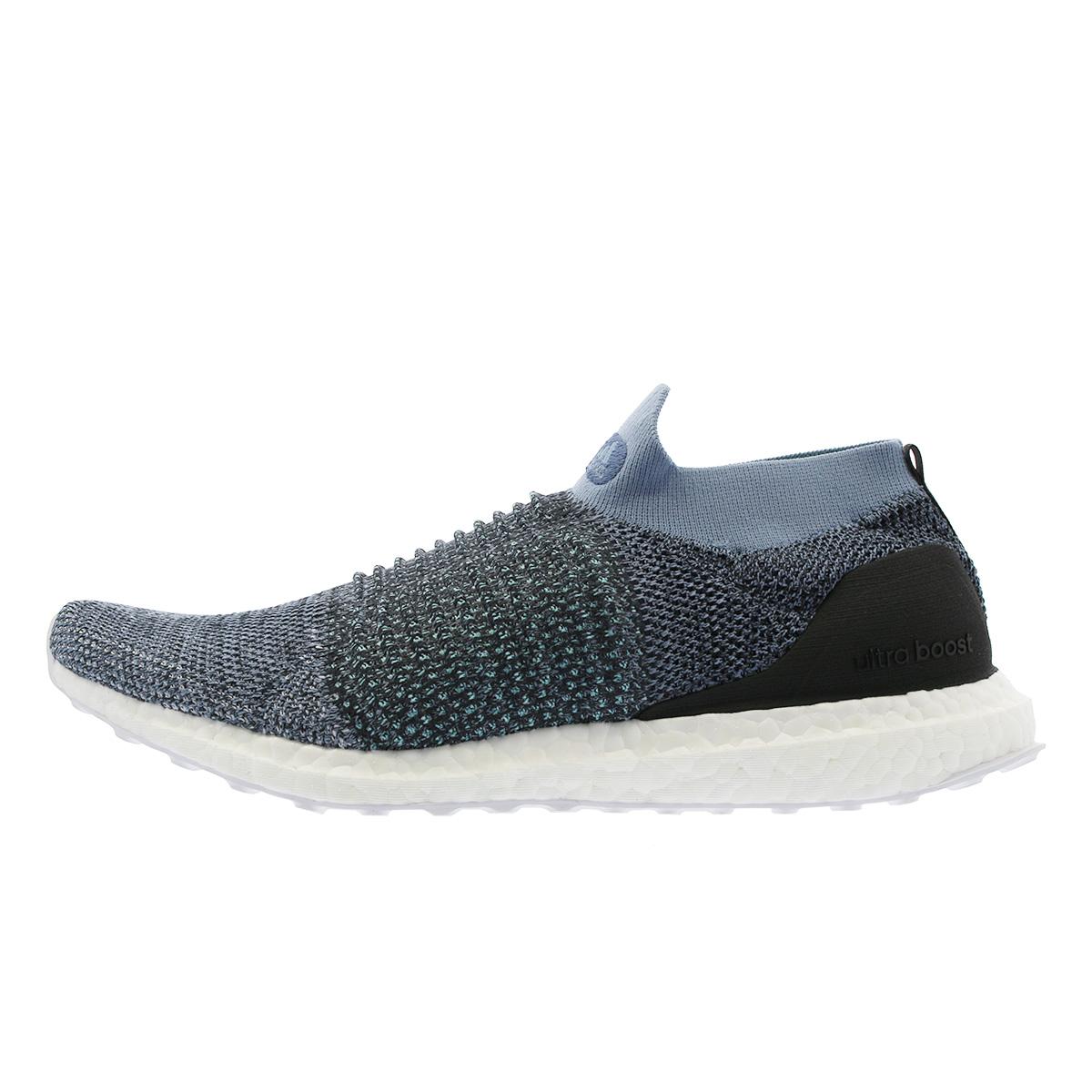 b53537871b06e adidas UltraBOOST LACELESS PARLEY Adidas ultra boost raceless gone lei GREY CARBON BLUE  SPLIT cm8271