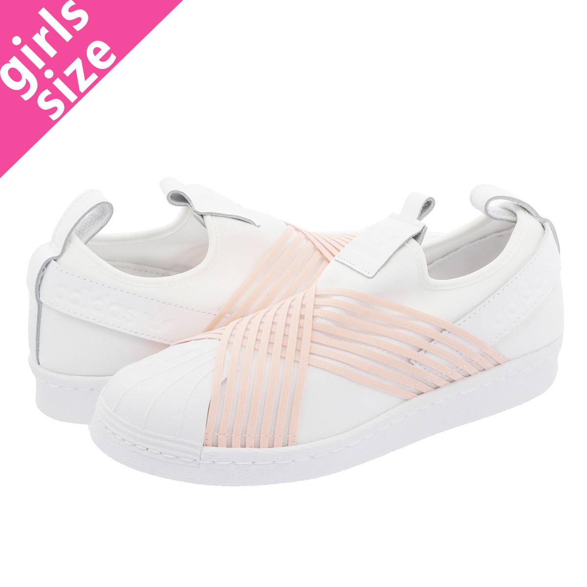 adidas SUPERSTAR Slip On W Adidas superstar slip ons women RUNNING WHITECLEAR ORANGE d96704