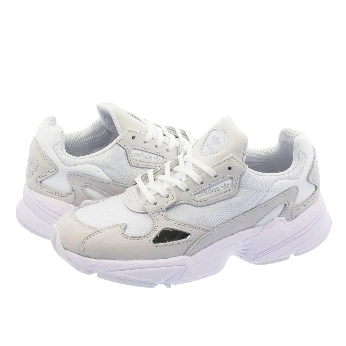 【大人気の女の子サイズ♪】 adidas ADIDASFALCON W アディダス アディダスファルコン ウィメンズ RUNNING WHITE/CRYSTAL WHITE b28128