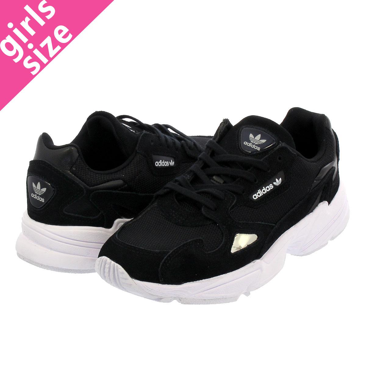 【大人気の女の子サイズ♪】 adidas ADIDASFALCON W アディダス アディダスファルコン ウィメンズ BLACK/CORE BLACK/RUNNING WHITE b28129