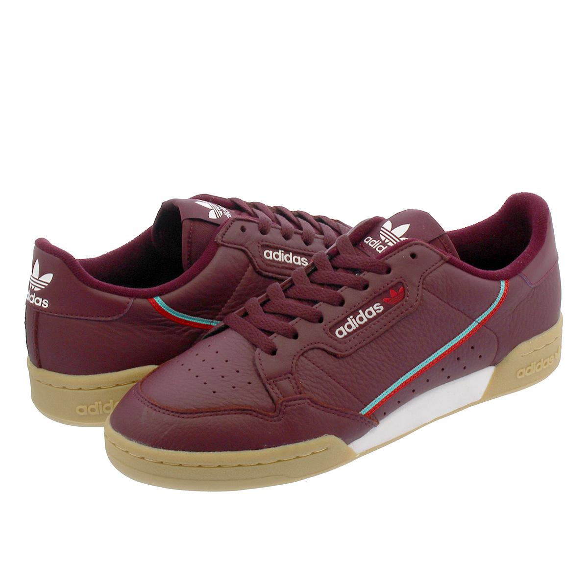 deb559223f46c4 SELECT SHOP LOWTEX  adidas CONTINENTAL 80 Adidas Continental 80 MAROON  SCARLET HI-RES AQUA b41677