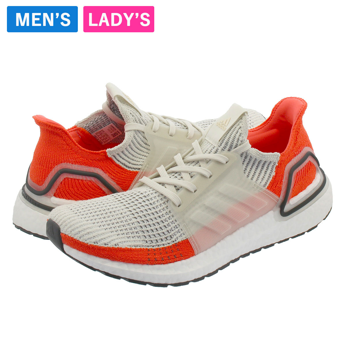 adidas ULTRA BOOST 19 Adidas ultra boost 19 LOW WHITERUNNING WHITEACTIVE ORANGE f35245