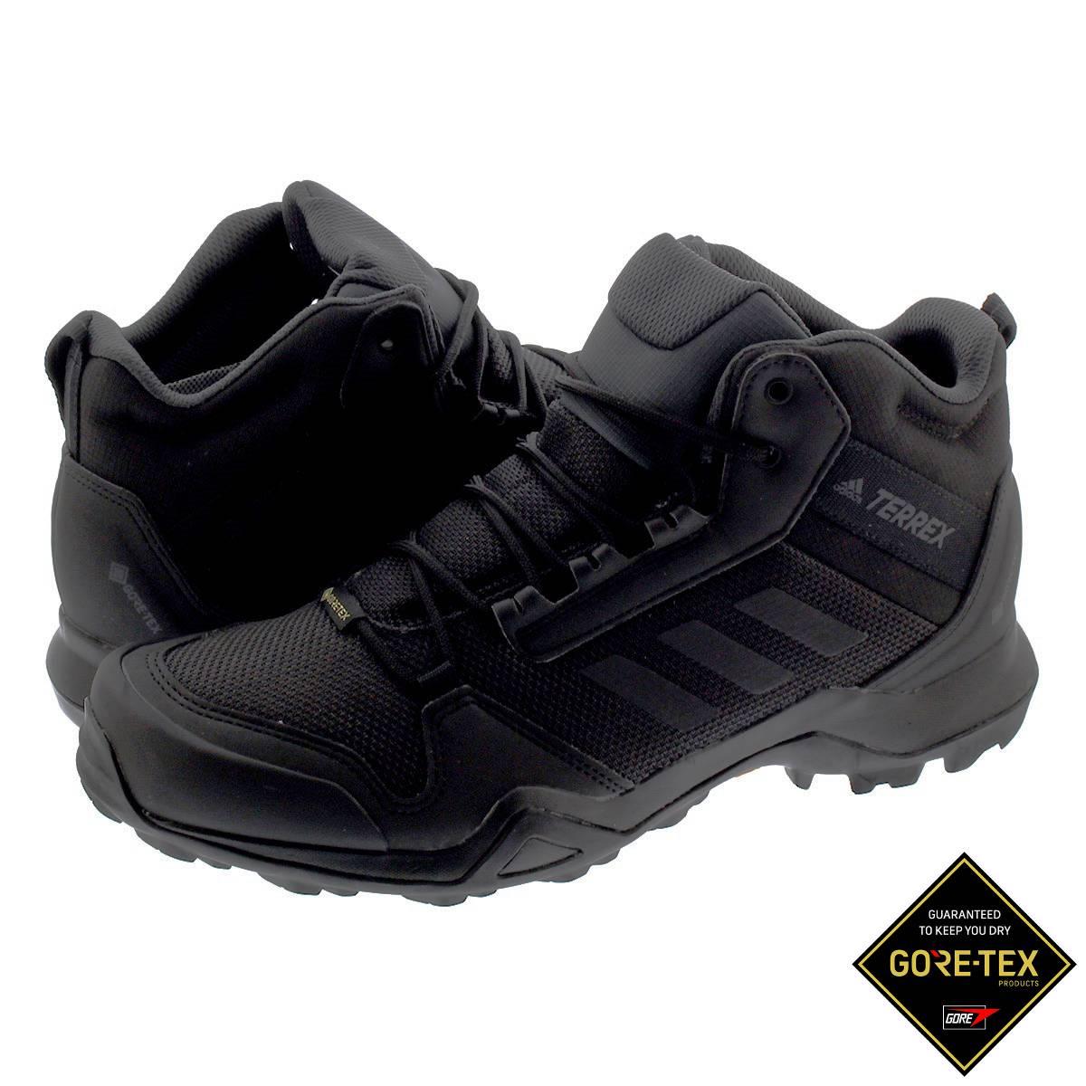 【毎日がお得!値下げプライス】 adidas TERREX AX3 MID GTX アディダス テレックス AX3 ミッド ゴアテックス CORE BLACK/CORE BLACK/CARBON bc0466