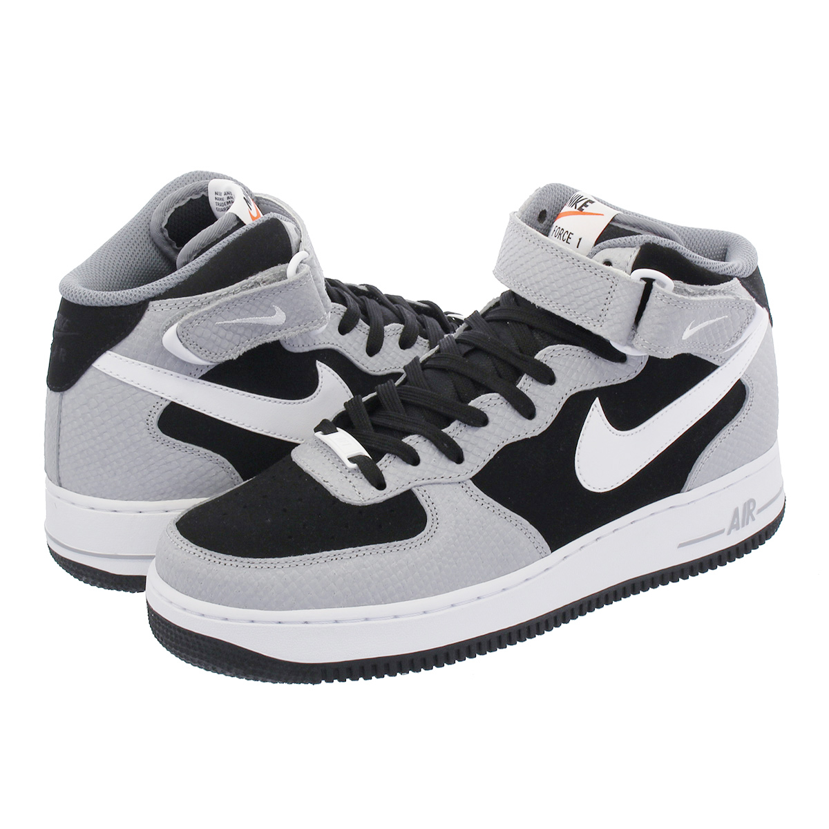 NIKE AIR FORCE 1 MID '07 ナイキ エア フォース 1 ミッド '07 BLACK/WHITE/WOLF GREY 315123-024