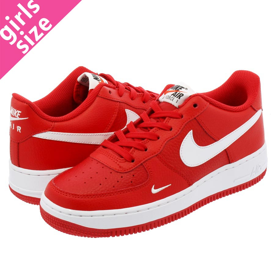 NIKE AIR FORCE 1 GS ナイキ エア フォース 1 GS UNIVERSITY RED/WHITE