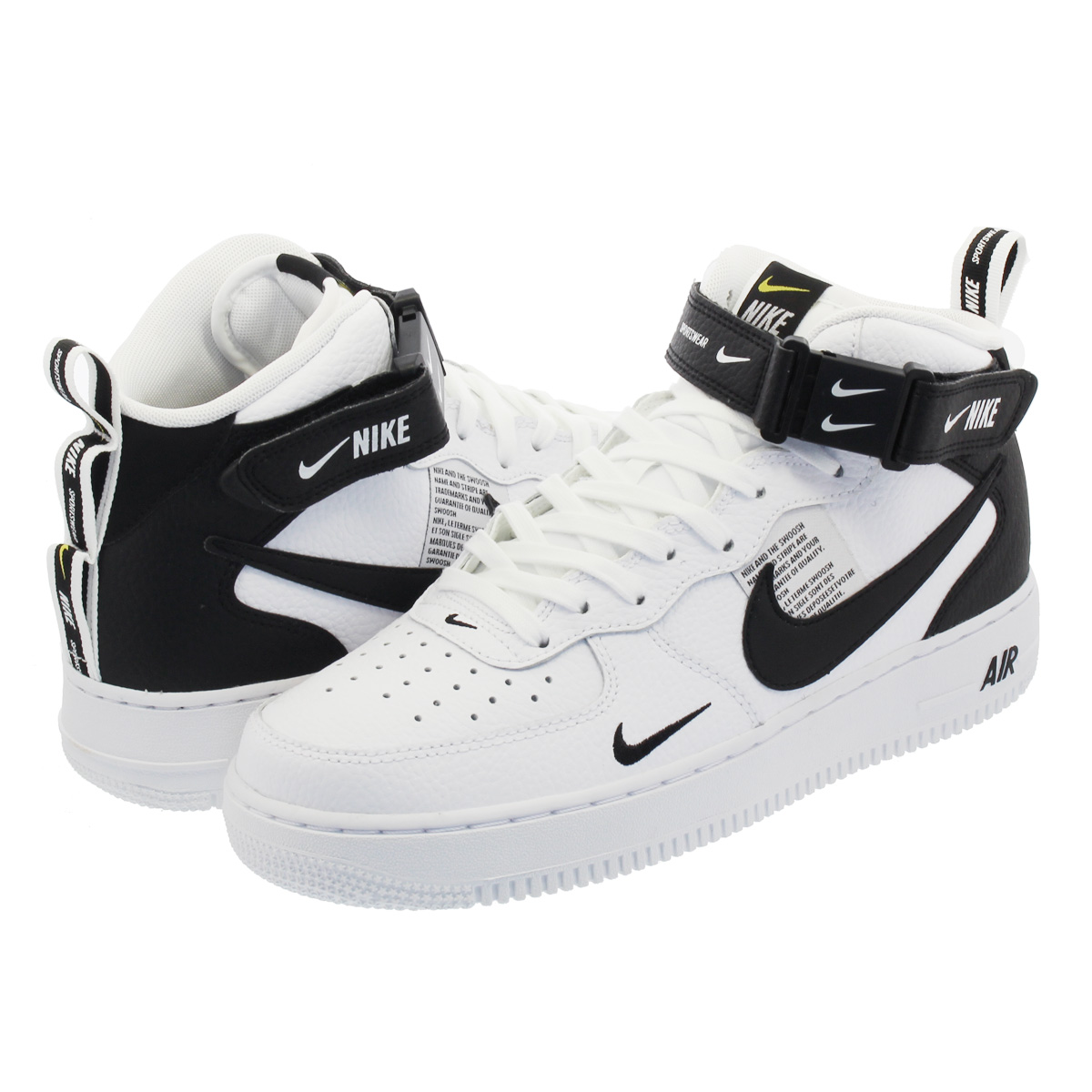 big sale fedc2 44411 NIKE AIR FORCE 1 MID '07 LV8 UTILITY Nike air force 1 mid '07 LV8 utility  WHITE/BLACK 804,609-103