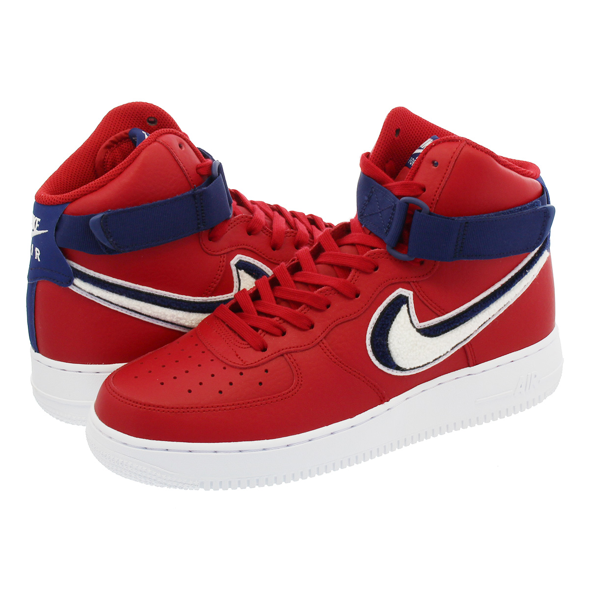 NIKE AIR FORCE 1 HIGH 07 LV8 Nike air force 1 high 07 LV8 GYM  RED/WHITE/VARSITY BLUE 806,403-603