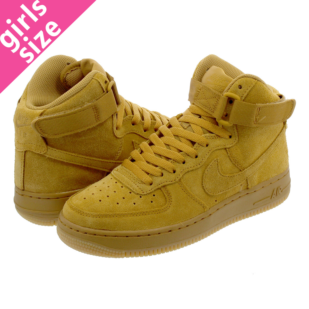 NIKE AIR FORCE 1 HIGH LV8 GS Nike air force 1 high LV8 GS WHEAT/GUM LIGHT  BROWN 807,617-701