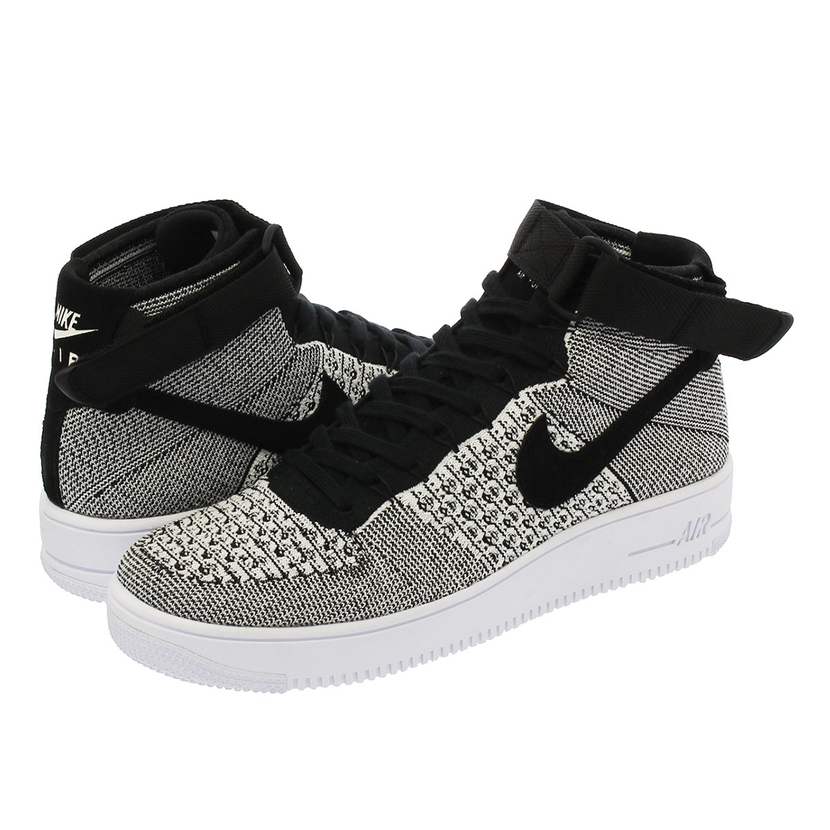 NIKE AIR FORCE 1 ULTRA FLYKNIT MID Nike air force 1 ultra fly knit mid BLACKBLACKWHITE