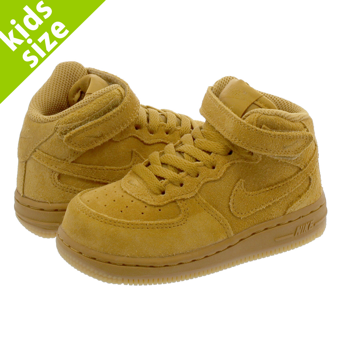 Nike NIKE air force 1 kids sneakers AIR FORCE 1 MID LV8 PS 859,337 701 ウィート [1810]