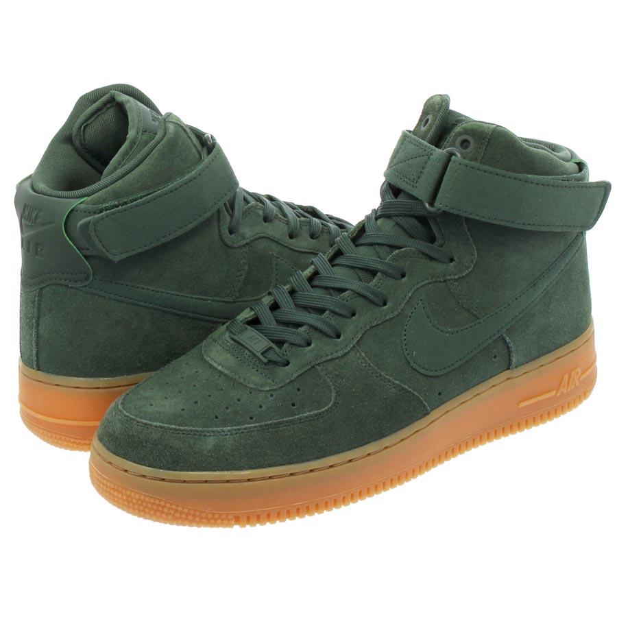 brand new 0fa25 d1616 NIKE AIR FORCE 1 HIGH 07 LV8 SUEDE Nike air force 1 high 07 LV8 suede  VINTAGE GREENGUM MED BROWNIVORY