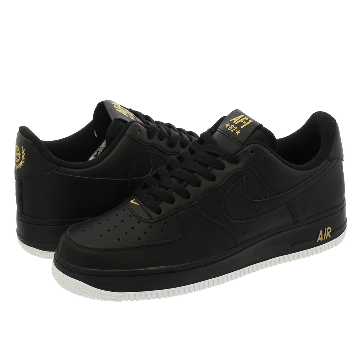 NIKE AIR FORCE 1 '07 Nike air force 1 '07 BLACKGOLDWHITE aa4083 014