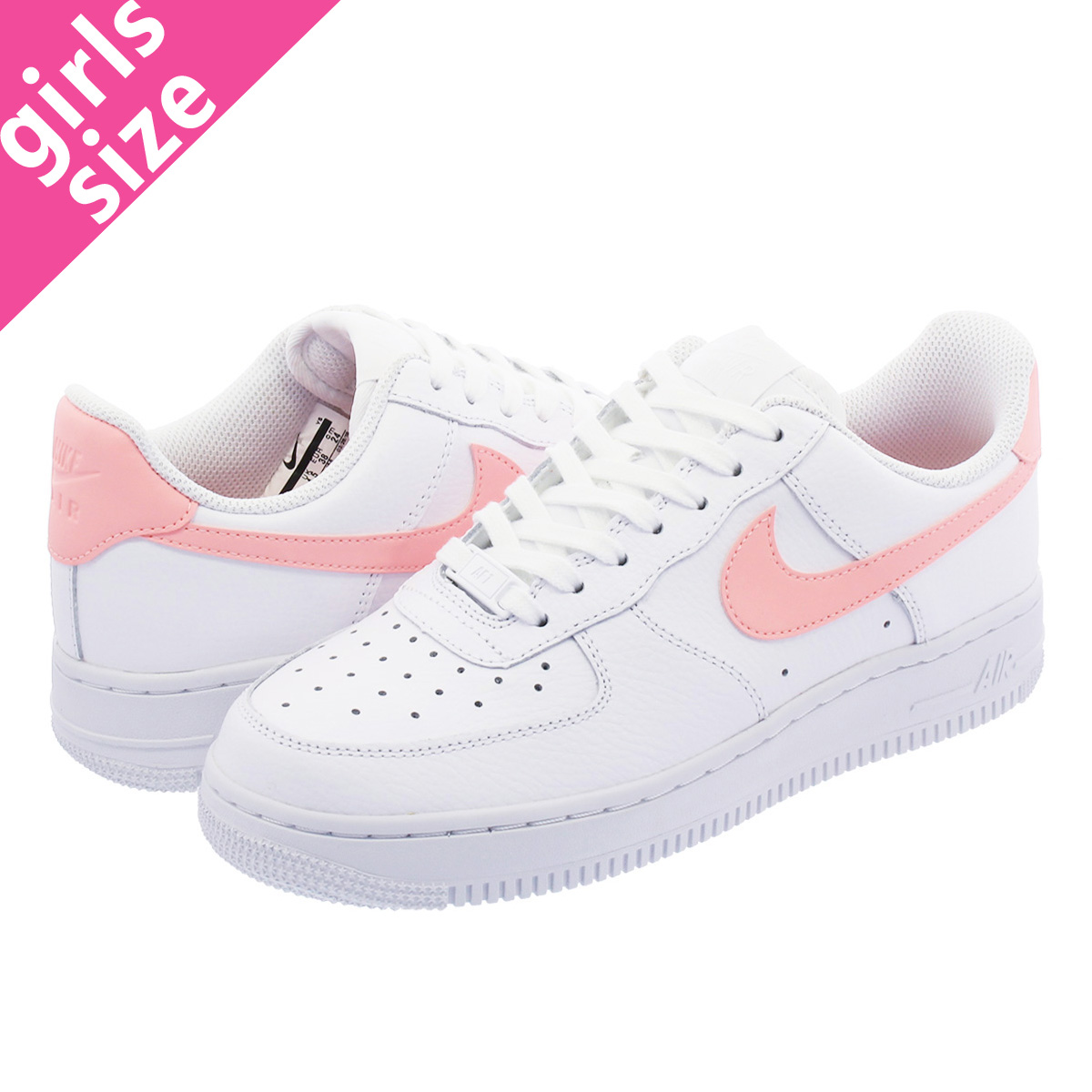 innovative design a5ee3 bb288 NIKE WMNS AIR FORCE 1 07 Nike women air force 1 07 WHITE/ORACLE PINK/WHITE  ah0287-102-l