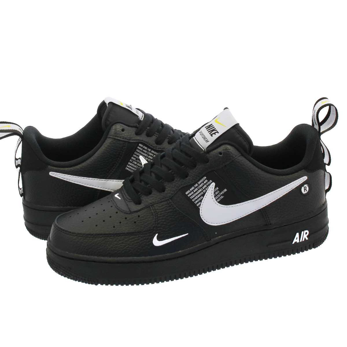 NIKE AIR FORCE 1 '07 LV8 UTILITY Nike air force 1 '07 LV8 utility  BLACK/WHITE/BLACK/TOUR YELLOW aj7747-001
