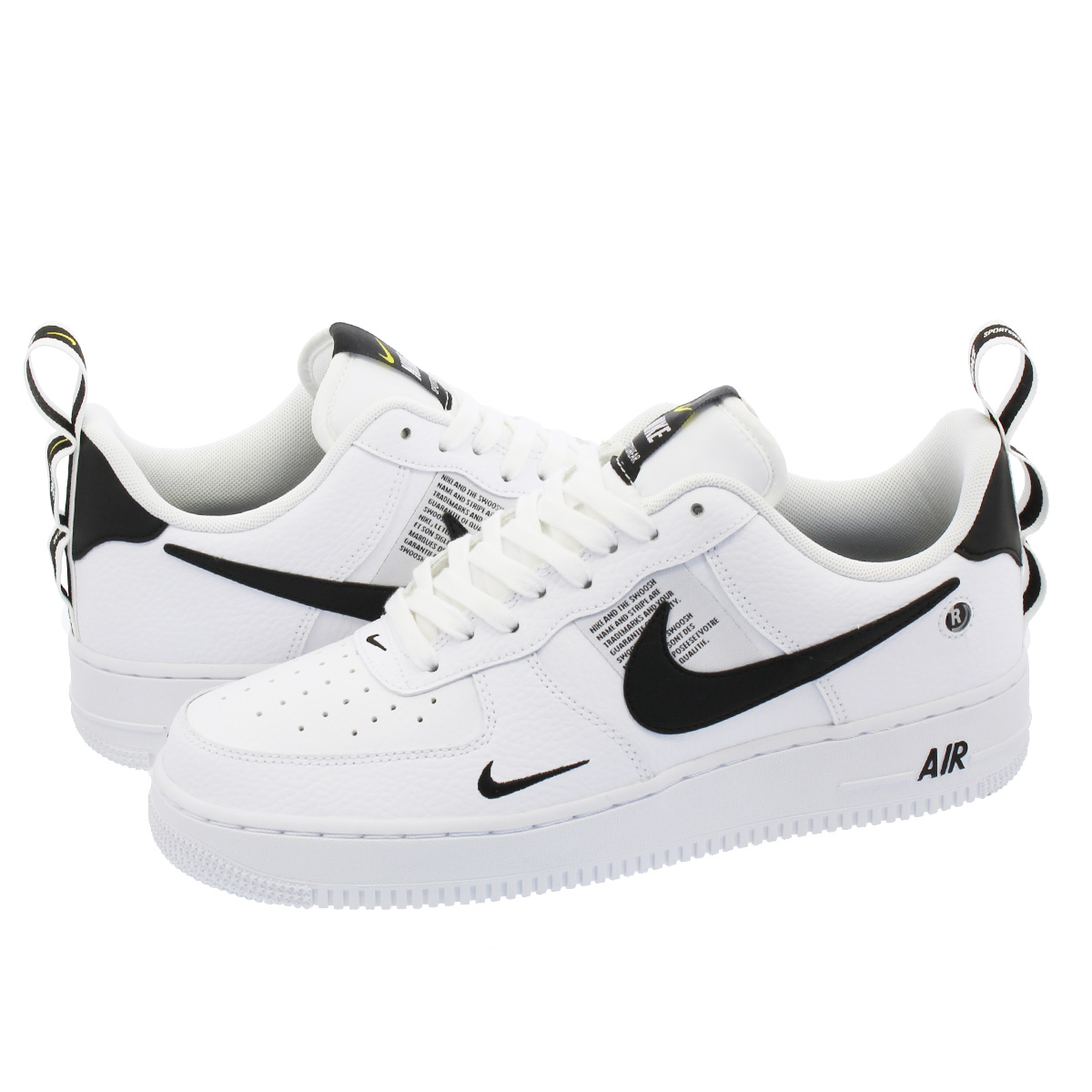 b8b7fb029db8 SELECT SHOP LOWTEX  NIKE AIR FORCE 1  07 LV8 UTILITY Nike air force 1  07  LV8 utility WHITE WHITE BLACK TOUR YELLOW aj7747-100