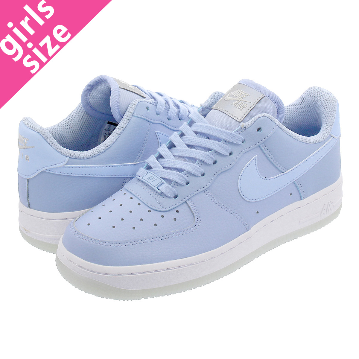 438a3565d4e1 NIKE WMNS AIR FORCE 1  07 ESSENTIAL Nike women air force 1  07 essential  ALUMINUM WHITE METALIC LUSTER ao2132-400