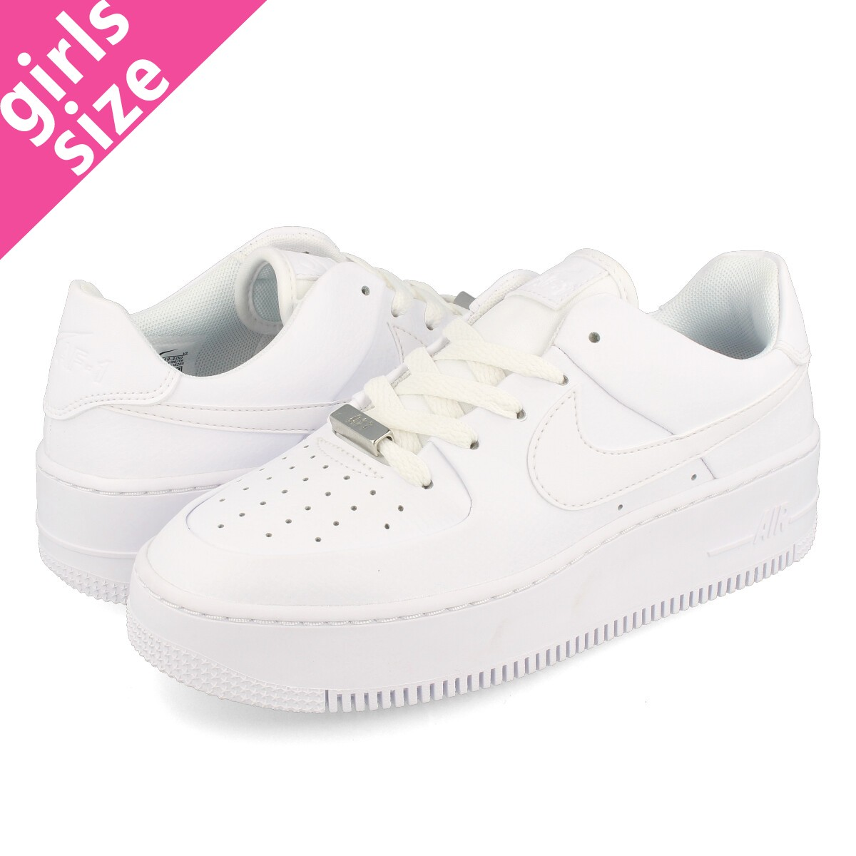 classic fit aaacb 6e705 NIKE WMNS AIR FORCE 1 SAGE LOW Nike women air force 1 sage low  WHITE/WHITE/WHITE ar5339-100
