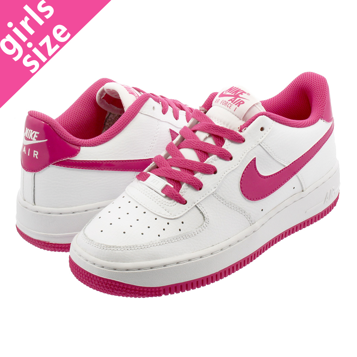 official photos 79ad3 87020 ... NIKE AIR FORCE 1 GS Nike air force 1 GS WHITE HOT PINK 314,219- ...