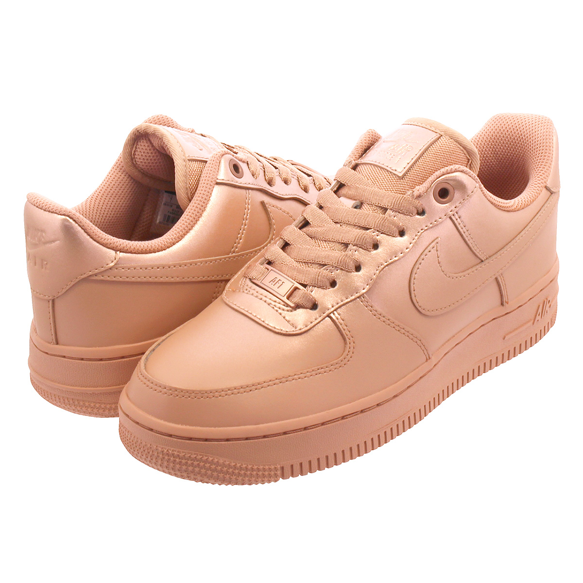 outlet store 887f5 bfaa8 NIKE WMNS AIR FORCE 1 07 LX Nike women air force 1 07 LX ROSE GOLD/METALLIC  RED/BRONZE 898,889-601