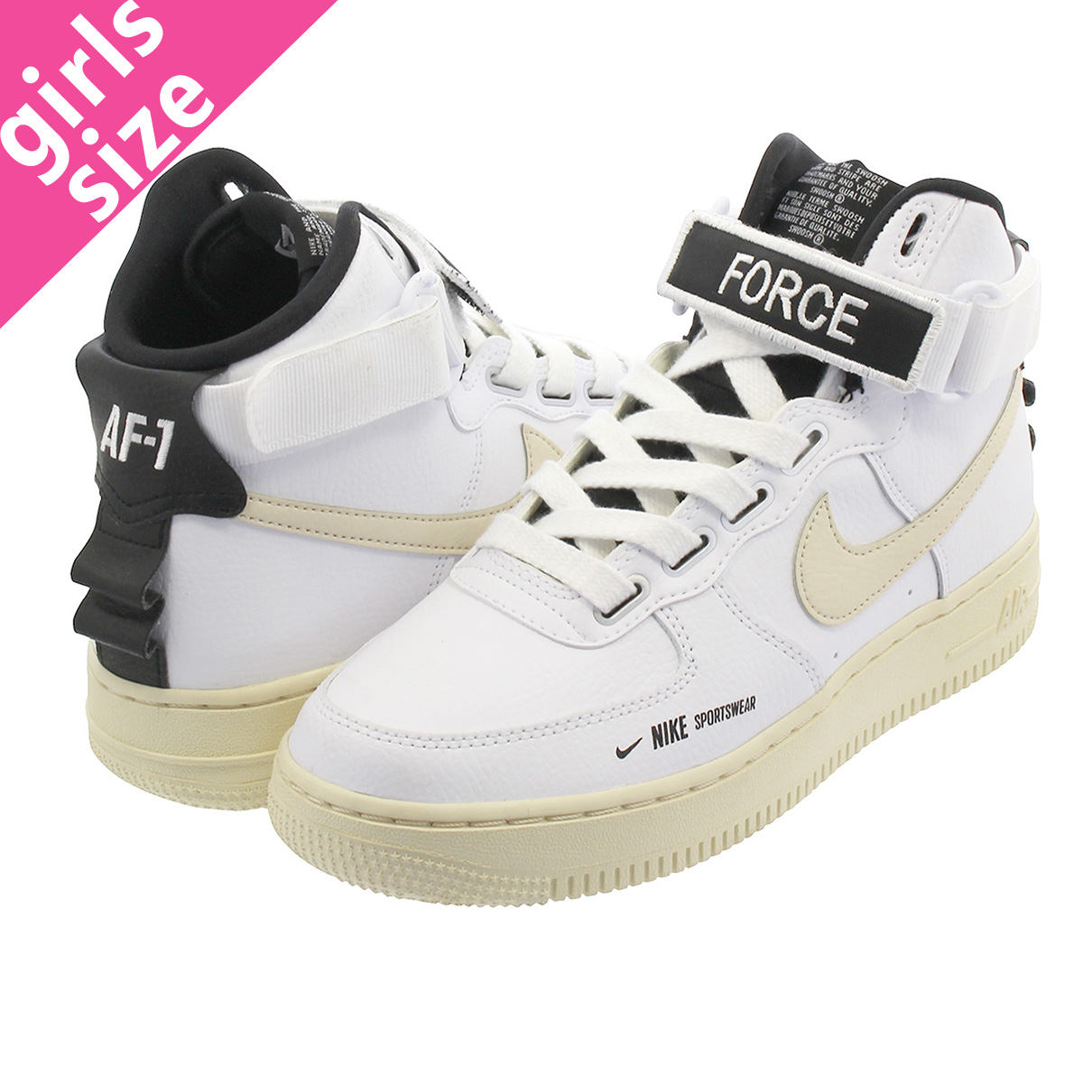 competitive price 7b96b 2f532 NIKE WMNS AIR FORCE 1 HI UTILITY Nike women air force 1 high utility WHITE   ...