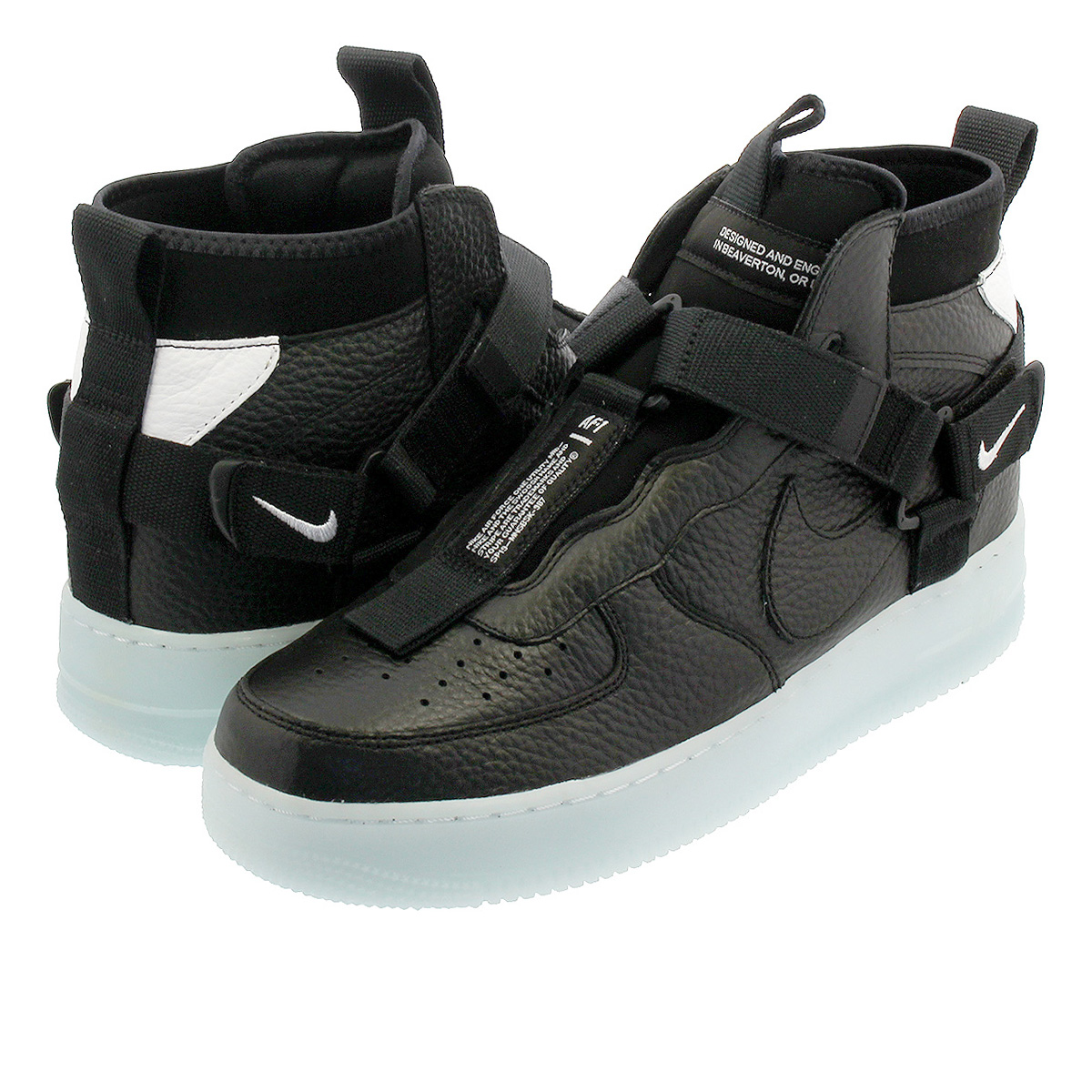 NIKE AIR FORCE 1 MID UTILITY Nike air force 1 mid utility BLACKHALF BLUEWHITE aq9758 001