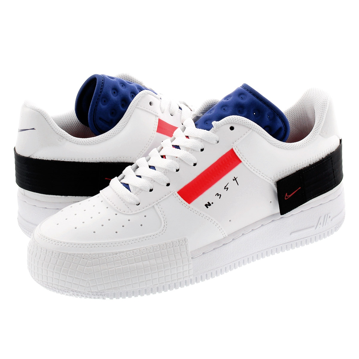 NIKE AIR FORCE 1 TYPE Nike air force one type SUMMIT WHITERED ORBITWHITEBLACK ci0054 100