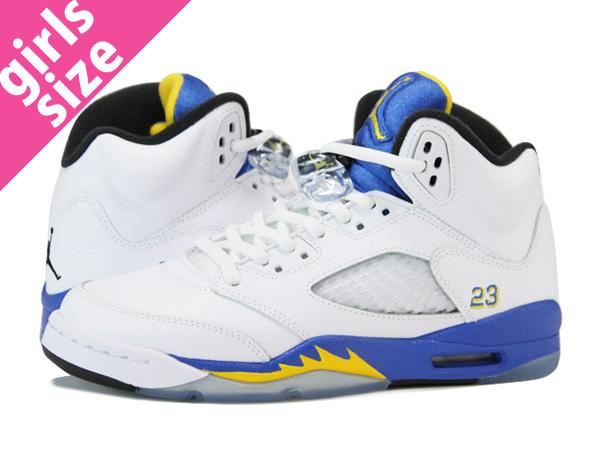 buy popular b8e6b a69c5 NIKE AIR JORDAN 5 RETRO GS WHITE/BLUE/YELLOW 【LANEY】