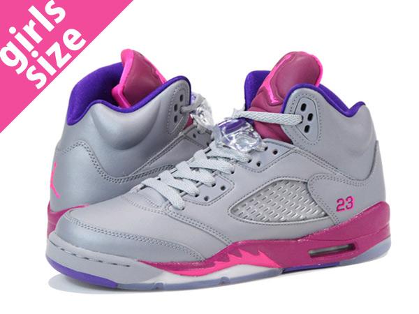 new style 4ac2a 404a4 air jordan retro 5 grey pink