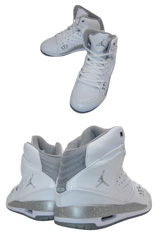 NIKE AIR JORDAN SC-1 GS Nike Air Jordan SC 1 GS WHITE/METALLIC SILVER