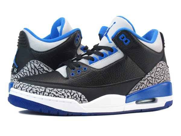 low priced 376df b9f87 SELECT SHOP LOWTEX  NIKE AIR JORDAN 3 RETRO BLACK BLUE  SPORT BLUE     Rakuten Global Market