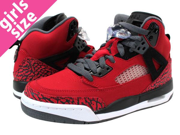 スパイズイック GS RED/BLACK, Nike Air Jordan, NIKE AIR JORDAN SPIZ ' IKE GS