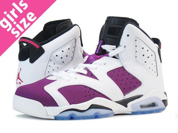 f4f0e768e97b NIKE AIR JORDAN 6 RETRO GS Nike Air Jordan 6 nostalgic GS WHITE VIVID PINK BRIGHT  GRAPE BLACK
