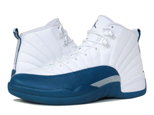 buy online 507e8 f6d63 NIKE AIR JORDAN 12 RETRO WHITE/BLUE/METALLIC SILVER/RED 【FRENCH BLUE】