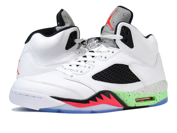 NIKE AIR JORDAN 5 RETRO WHITE INFRARED 23 LIGHT POISON GREEN BLACK  PRO  STARS  93138f38d