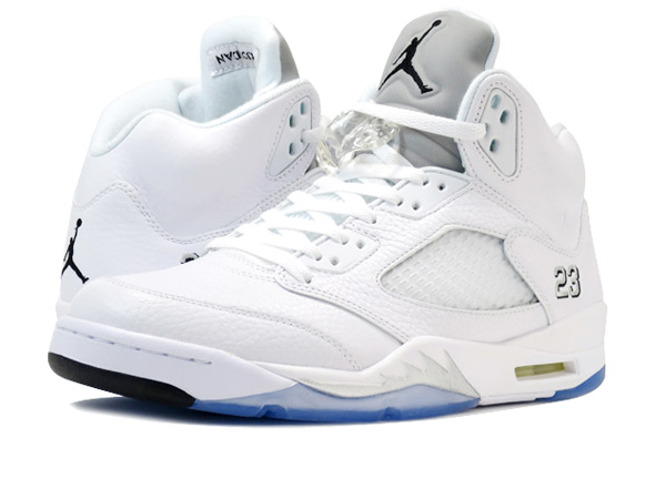 NIKE AIR JORDAN 5 RETRO ナイキ エア ジョーダン 5 レトロ WHITE/METALLIC SILVER/BLACK 136027-130