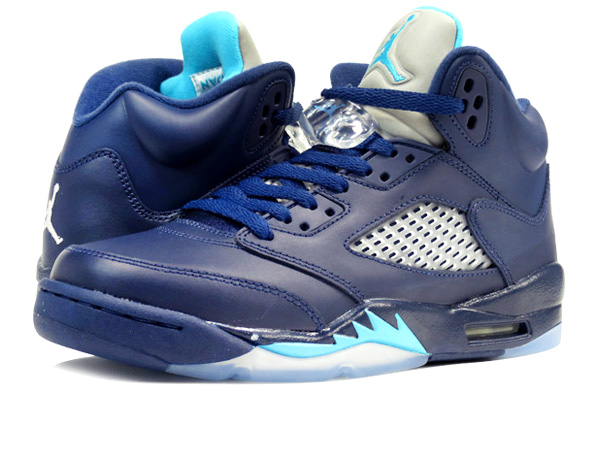... free shipping nike air jordan 5 retro midnight navy turquoise blue  white hornets 9ee3c 836d6 deb28f89b