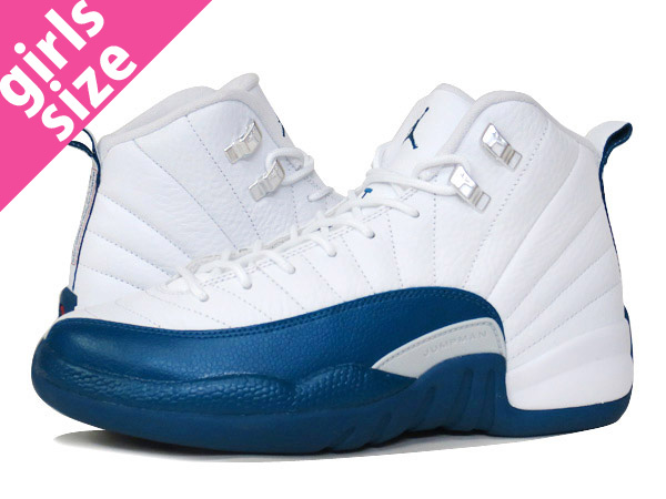【大人気の女の子サイズ♪】NIKE AIR JORDAN 12 RETRO BG 【FRENCH BLUE】 ナイキ エア ジョーダン 12 レトロ BG WHITE/BLUE/METALLIC SILVER/RED 153265-113