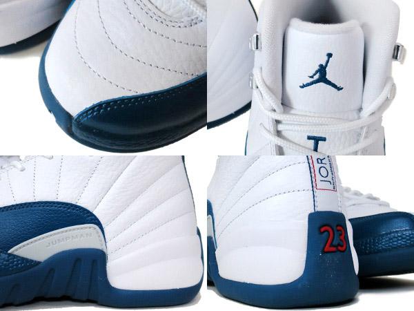 sports shoes 79c29 d6301 NIKE AIR JORDAN 12 RETRO BG WHITE BLUE METALLIC SILVER RED  FRENCH BLUE