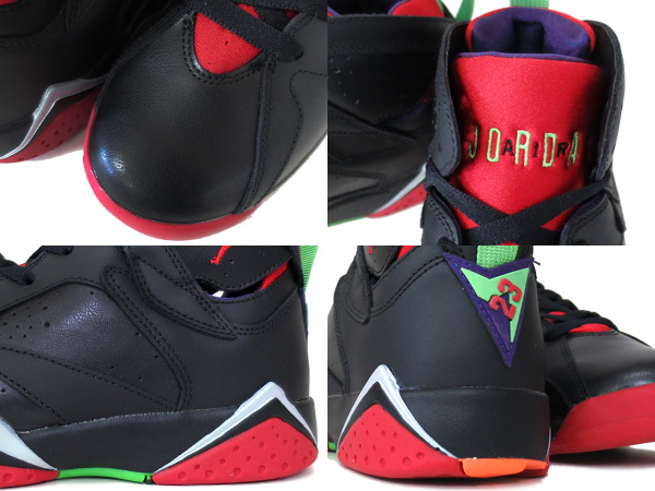 factory price fca85 00ac4 ... NIKE AIR JORDAN 7 RETRO BG BLACK UNIVERSITY RED GREEN GREY  MARVIN