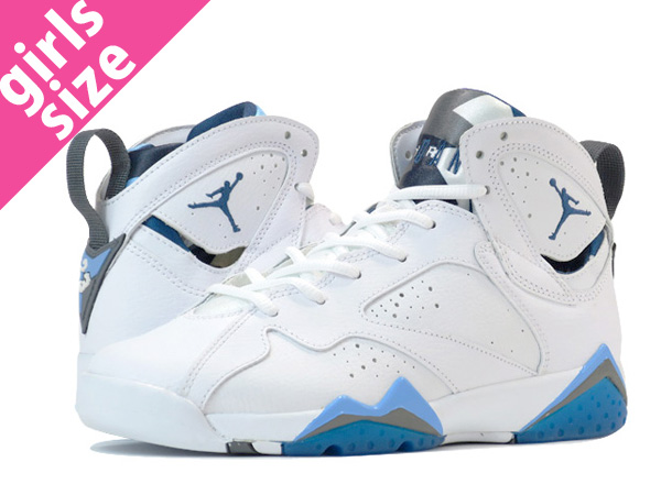 huge discount 9b12b 2a22d NIKE AIR JORDAN 7 RETRO BG Nike Air Jordan 7 nostalgic BG WHITE FRENCH BLUE  ...