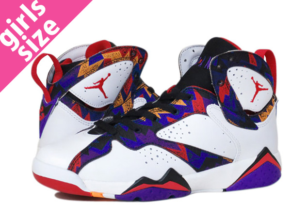 size 40 ef5a6 33927 NIKE AIR JORDAN 7 RETRO BG WHITE SORAR BLUE VARSITY RED BRIGHT CONCORD   SWEATER