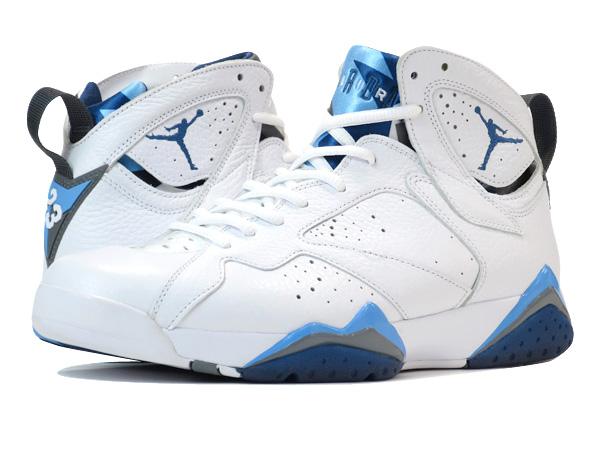 dc46c423eeac NIKE AIR JORDAN 7 RETRO WHITE FRENCH BLUE UNIVERSITY BLUE GREY  FRENCH BLUE