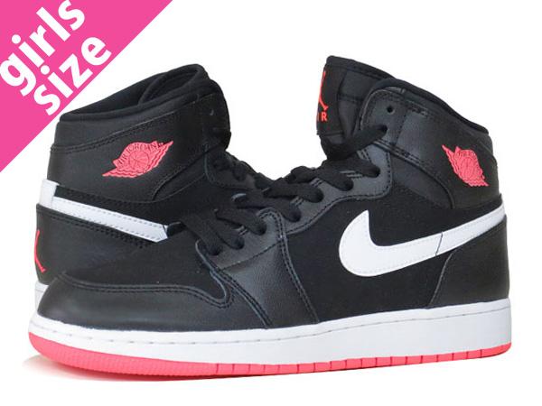 save off ab0fe 4f862 NIKE AIR JORDAN 1 RETRO HI GG Nike Air Jordan 1 nostalgic high GG BLACK HOT  LAVA WHITE