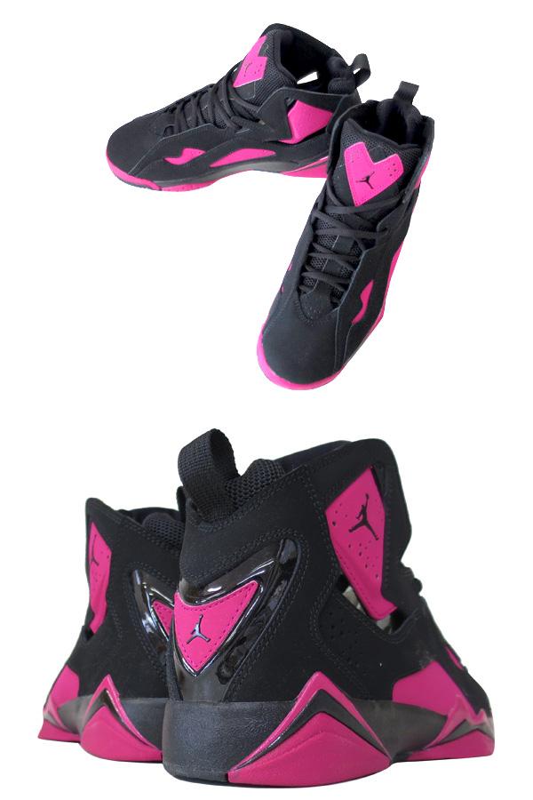 sale retailer 55535 578fd ... sale nike jordan true flight gg nike jordan toe roof light gg black pink  b662e 5cb00