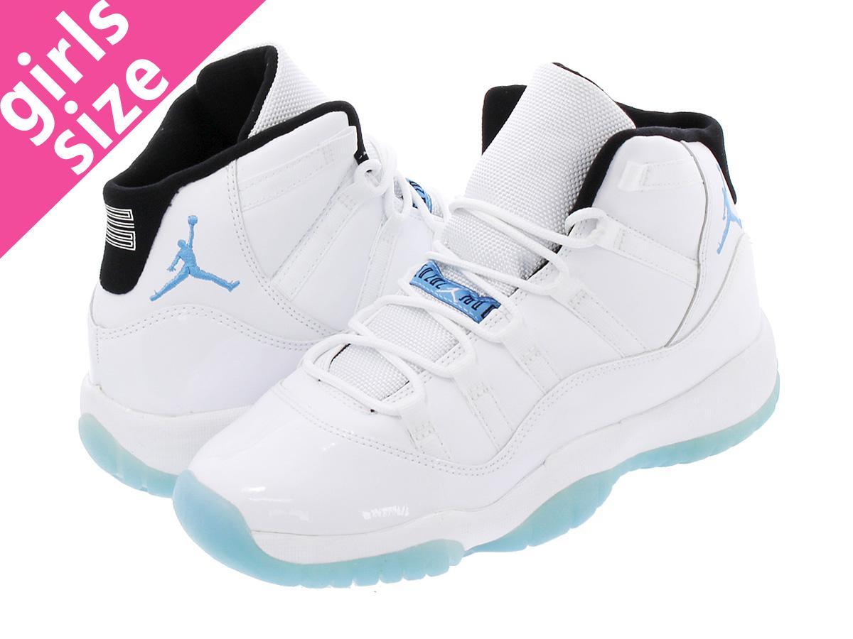 buy popular 2bd3a 724a4 NIKE AIR JORDAN 11 RETRO BG WHITE/BLUE 【LEGEND BLUE】