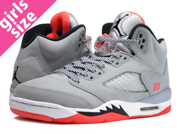 7cc6527e3a32 NIKE AIR JORDAN 5 RETRO GS Nike Air Jordan 5 nostalgic GS WOLF GREY BLACK HOT  LAVA WHITE