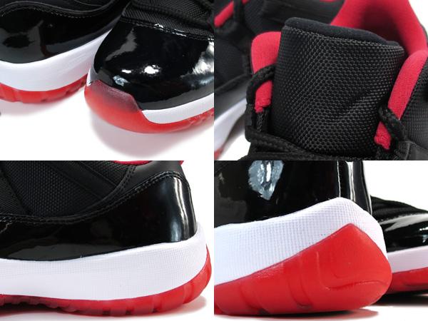detailed look ea534 f8c97 NIKE AIR JORDAN 11 RETRO LOW BLACK VARSITY RED WHITE  BRED