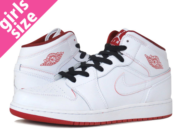 store where to buy special section NIKE AIR JORDAN 1 MID BG Nike Air Jordan 1 mid BG WHITE/GYM RED