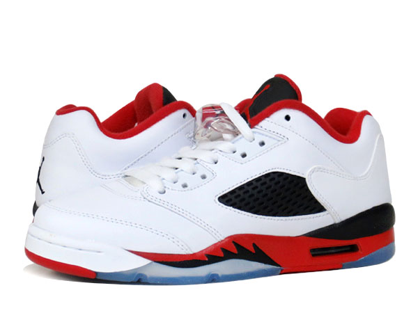 NIKE AIR JORDAN 5 RETRO LOW 【FIRE RED】 ナイキ エア ジョーダン 5 レトロ ロー WHITE/FIRE RED/BLACK
