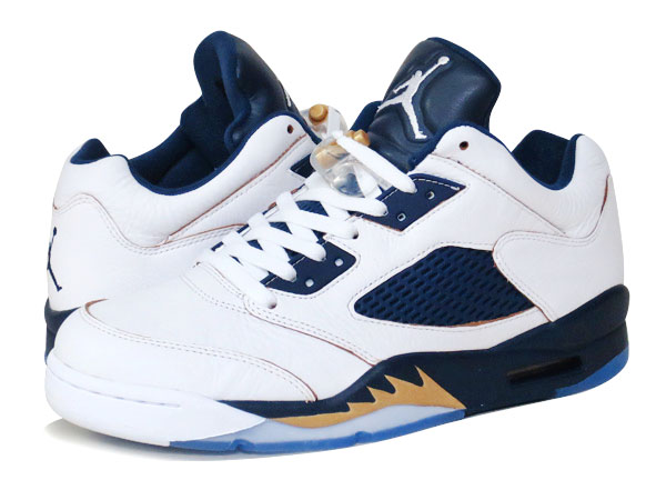c3b1bfac74adc0 SELECT SHOP LOWTEX  NIKE AIR JORDAN 5 RETRO LOW WHITE GOLD NAVY ...